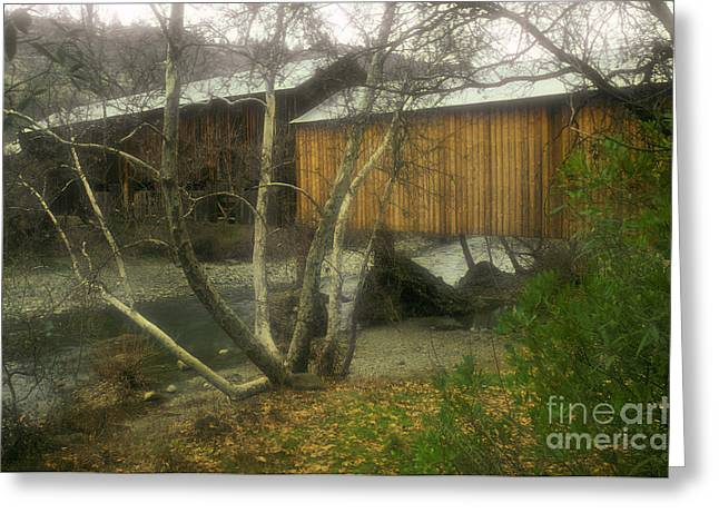 Covered Bridge Greeting Cards - Covered Bridge Greeting Card by Ron Sanford
