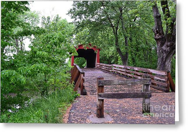 Covered Bridge Greeting Card by Utopia Concepts