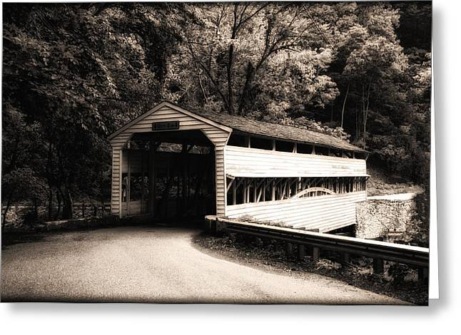 Knox Covered Bridge - Valley Forge Greeting Cards - Covered Bridge - Valley Forge Greeting Card by Bill Cannon