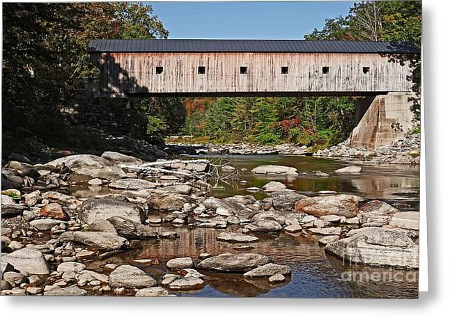 Covered Bridge Greeting Cards - Covered Bridge Vermont Greeting Card by Edward Fielding