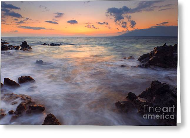 Maui Greeting Cards - Covered by the Sea Greeting Card by Mike  Dawson