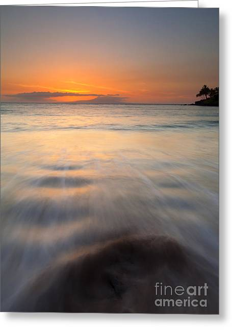 Makena Greeting Cards - Covered by the Tides Greeting Card by Mike  Dawson