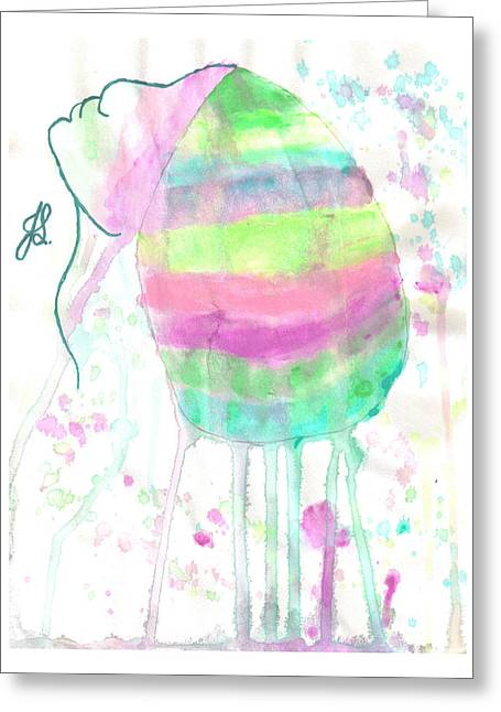 Covered Head Paintings Greeting Cards - Covered Girl 4 Greeting Card by Jennifer R Ghanem