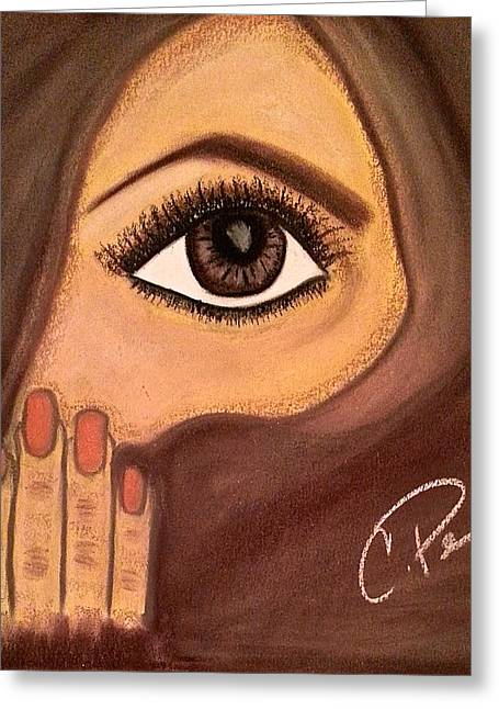 Veiled Pastels Greeting Cards - Covered in Brown Greeting Card by Chrissy  Pena