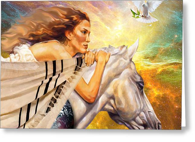Prayer Warrior Greeting Cards - Covered in Prayer Greeting Card by Dolores Develde
