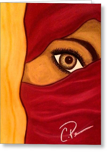 Veiled Pastels Greeting Cards - Covered in Red Greeting Card by Chrissy  Pena