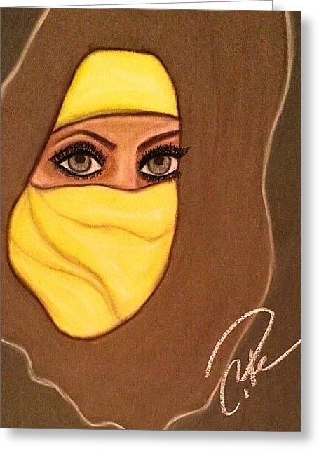 Veiled Pastels Greeting Cards - Covered in Yellow Greeting Card by Chrissy  Pena