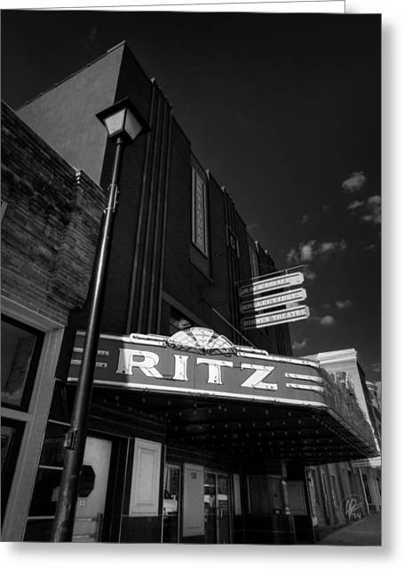 Street Greeting Cards - Covington TN - The Ritz 001 Greeting Card by Lance Vaughn