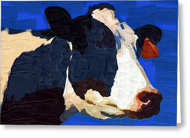 Pasture Herb Greeting Cards - Cow 2 Greeting Card by Victor Gladkiy