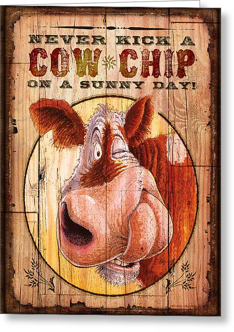 Cow Chip Greeting Card by JQ Licensing
