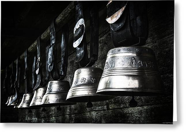Best Sellers -  - Swiss Photographs Greeting Cards - Cowbells Greeting Card by Ryan Wyckoff