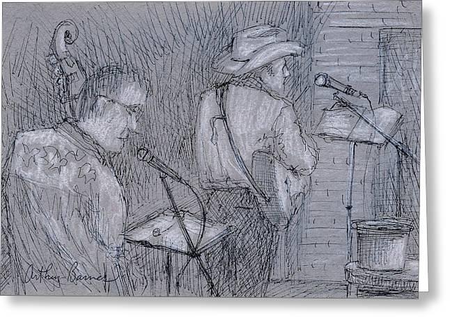 Cowboy Band Greeting Card by Arthur Barnes