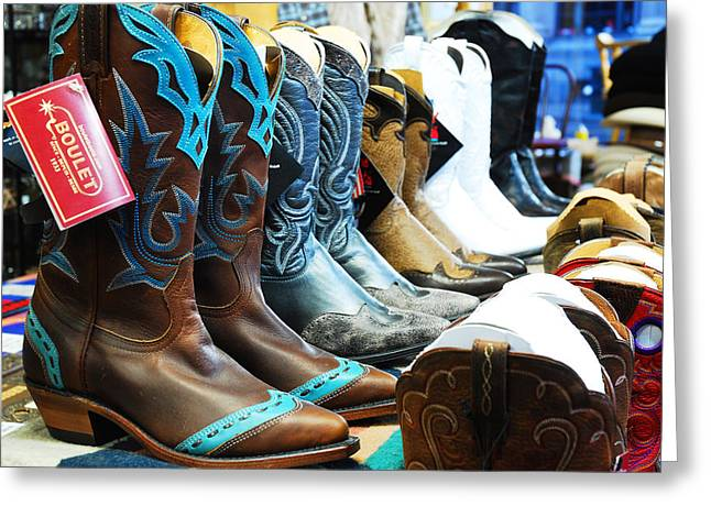 Nashville Tennessee Greeting Cards - Cowboy Boots  Greeting Card by James Kirkikis