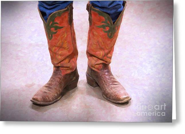 Pairs Greeting Cards - Cowboy Boots Greeting Card by Janice Rae Pariza