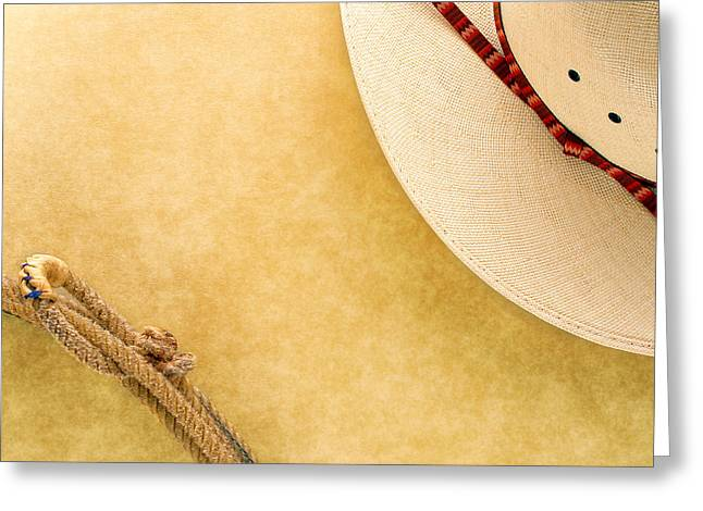 American Grunge Greeting Cards - Cowboy Decor Greeting Card by Olivier Le Queinec
