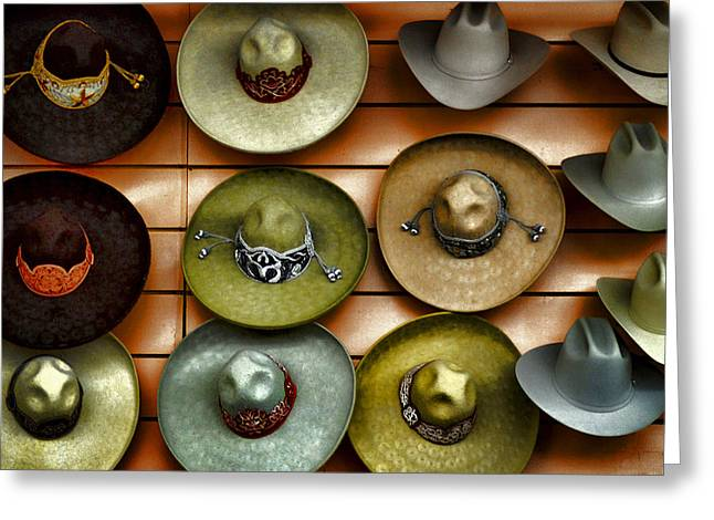 Apparel Greeting Cards - Cowboy Hats Greeting Card by Camille Lopez