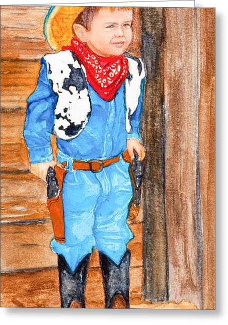 Cowboy Outfit Greeting Cards - Cowboy Greeting Card by Jane Honn