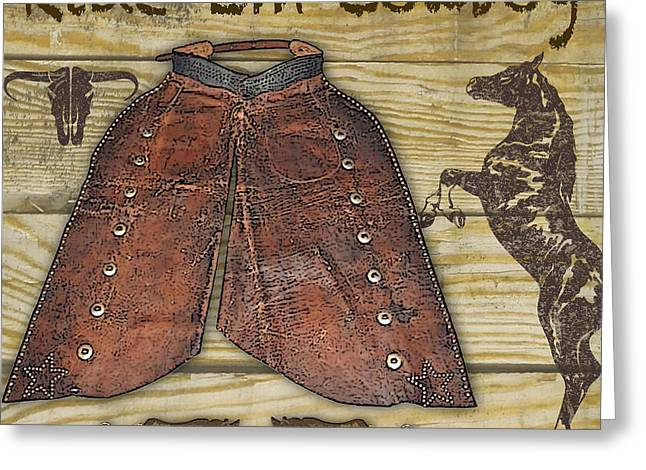 Boots Digital Art Greeting Cards - Cowboy-JP2522 Greeting Card by Jean Plout