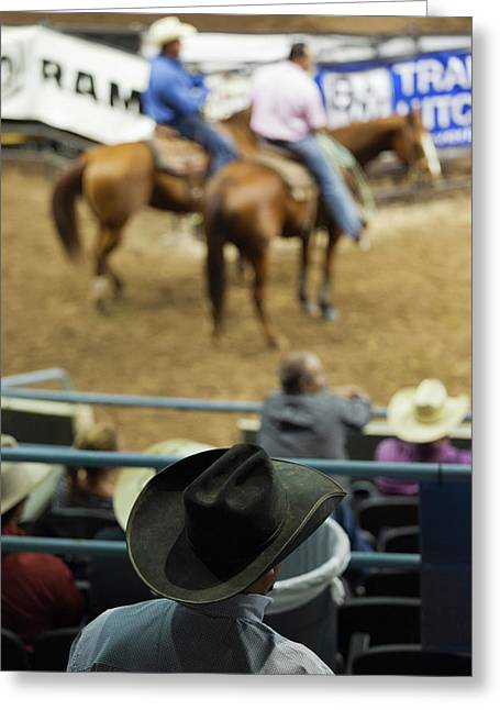 Cowboy Rodeo Competition At Oklahoma Greeting Card by Panoramic Images