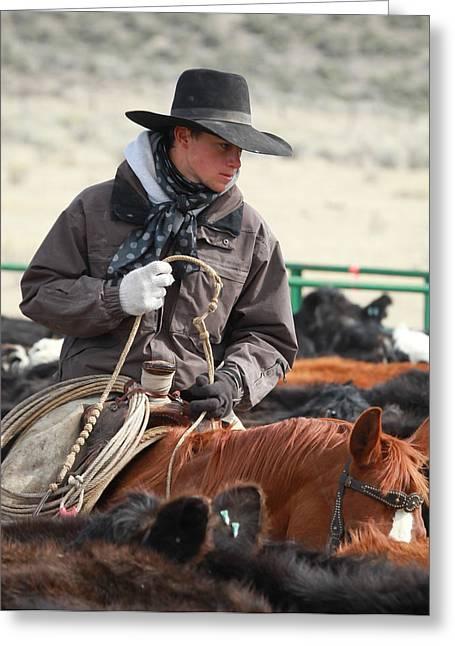 Cowboy Signature 9 Greeting Card by Diane Bohna