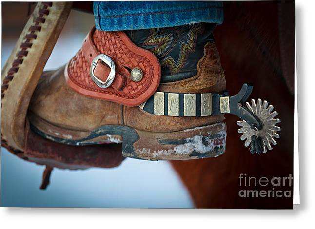 Cowboy Spurs Greeting Card by Inge Johnsson