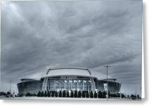 Cowboy Stadium Greeting Card by Joan Carroll