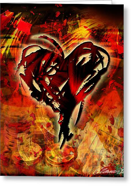 Cowboys- Heart Greeting Card by Maria Eames