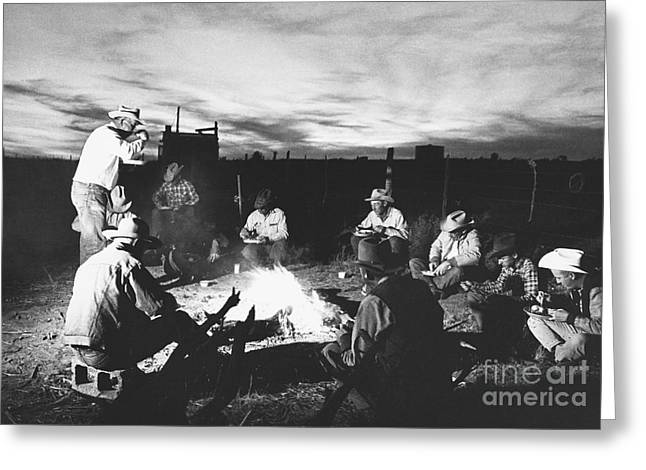 Plaid Shirt Greeting Cards - Cowboys, Seligman, Arizona Greeting Card by Joe Munroe