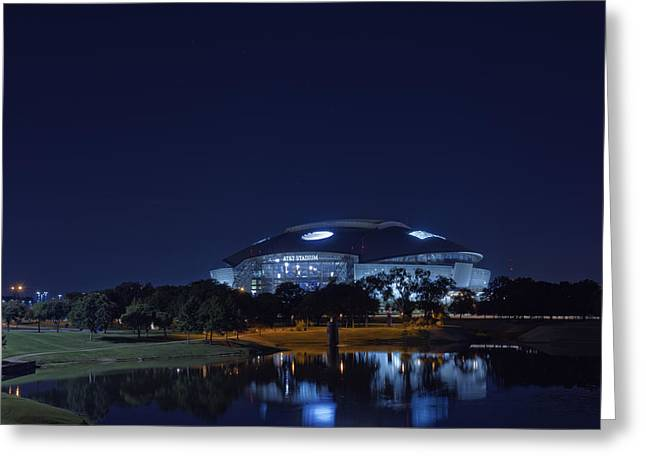 Pro Sports Greeting Cards - Cowboys Stadium Game Night 1 Greeting Card by Jonathan Davison