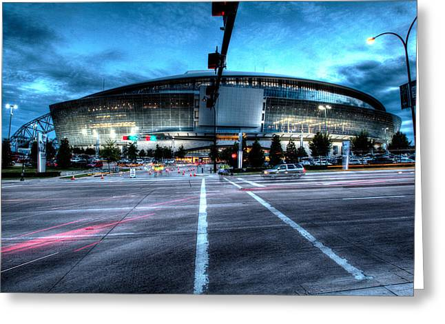 Arlington Greeting Cards - Cowboys Stadium pregame Greeting Card by Jonathan Davison