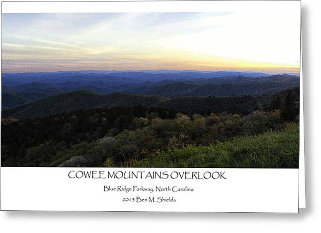 Sunset Photography Greeting Cards - Cowee Mountains Overlook Greeting Card by Ben Shields