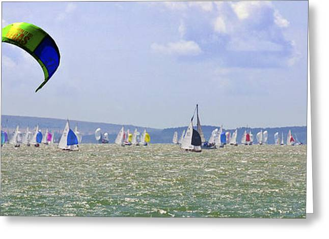Boats On Water Greeting Cards - Cowes Week Isle of Wight Greeting Card by Terri  Waters