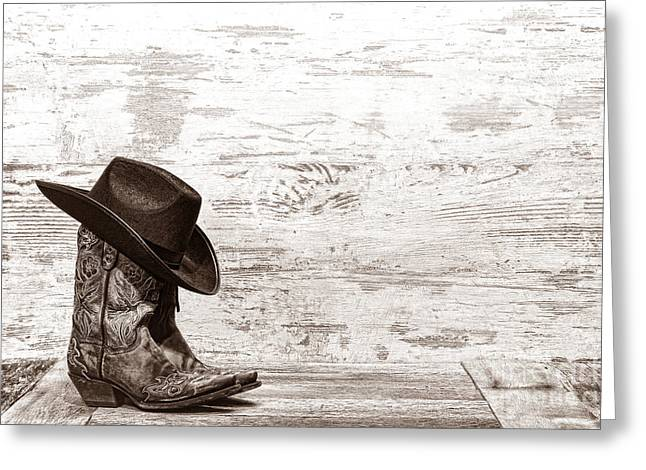 Fancy Boots Greeting Cards - Cowgirl Boots Greeting Card by American West Legend By Olivier Le Queinec
