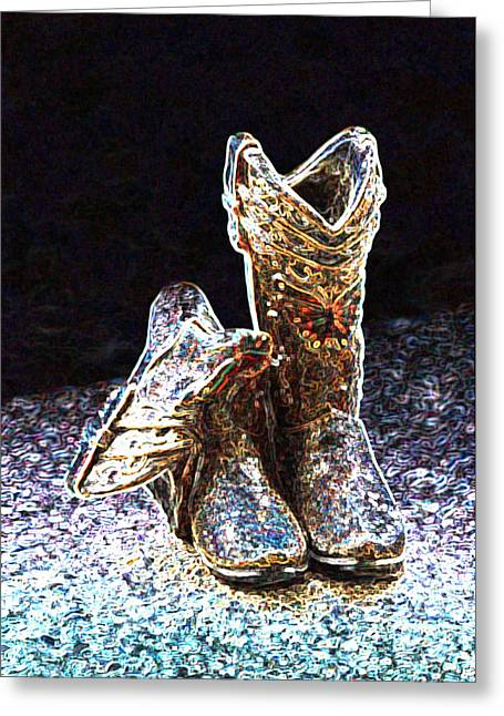 Boots Digital Art Greeting Cards - Cowgirl Boots Greeting Card by Armando William Evangelista