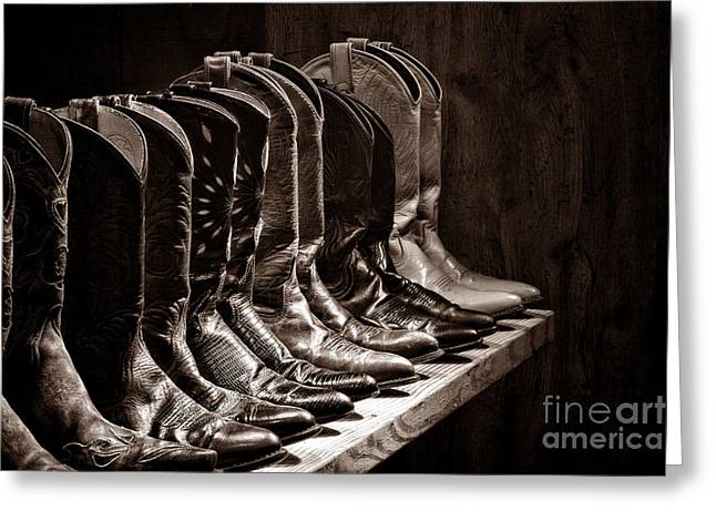 Cowgirl Boots Greeting Cards - Cowgirl Boots Collection Greeting Card by American West Legend By Olivier Le Queinec
