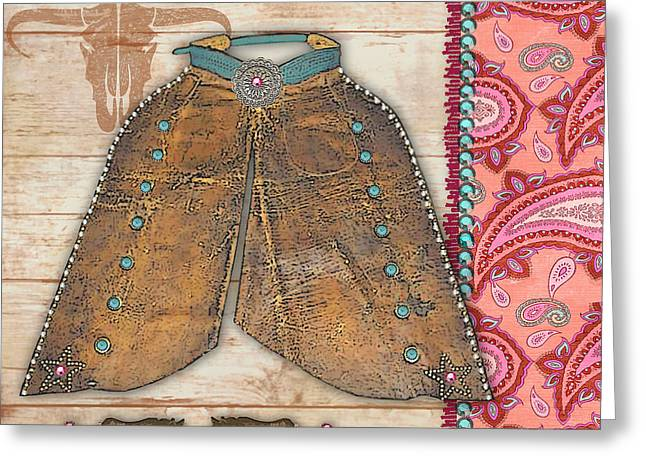 Original Cowgirl Greeting Cards - Cowgirl-JP2534 Greeting Card by Jean Plout