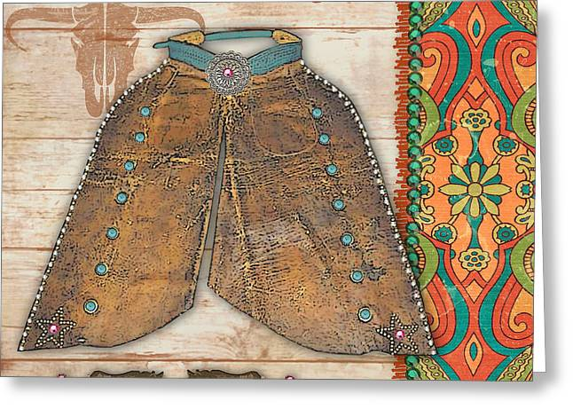 Original Cowgirl Greeting Cards - Cowgirl-JP2538 Greeting Card by Jean Plout