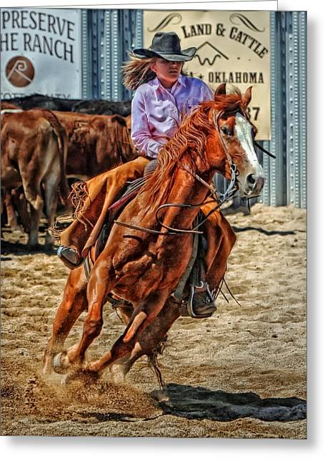 Pretty Cowgirl Greeting Cards - Cowgirl Greeting Card by Mountain Dreams