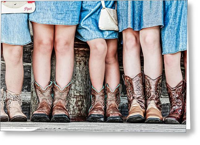 Cowgirl Boots Greeting Cards - Cowgirl Up Greeting Card by Keith Allen