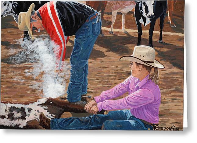 Cowgirls Do It Too Greeting Card by Timithy L Gordon