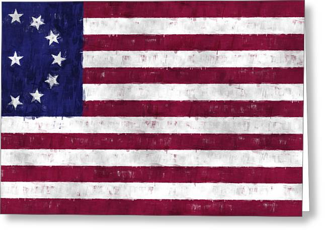 3rd Army Greeting Cards - Cowpens Flag Greeting Card by World Art Prints And Designs