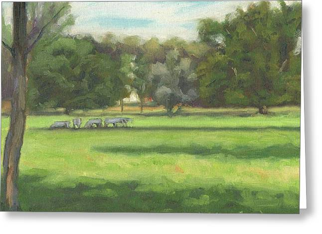 Paysage A L Greeting Cards - Cows of Montigny - Vaches de Montigny Greeting Card by David Ormond