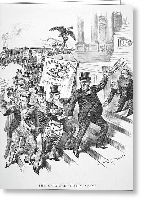 Coxey's Army Cartoon, 1894 Greeting Card by Granger