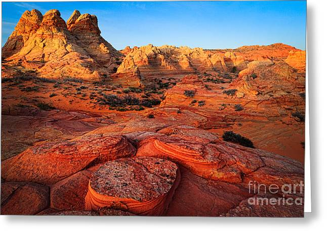 Coyote Buttes Greeting Card by Inge Johnsson