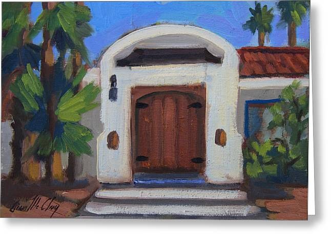 La Quinta Greeting Cards - Coyote Crossing Gate Greeting Card by Diane McClary