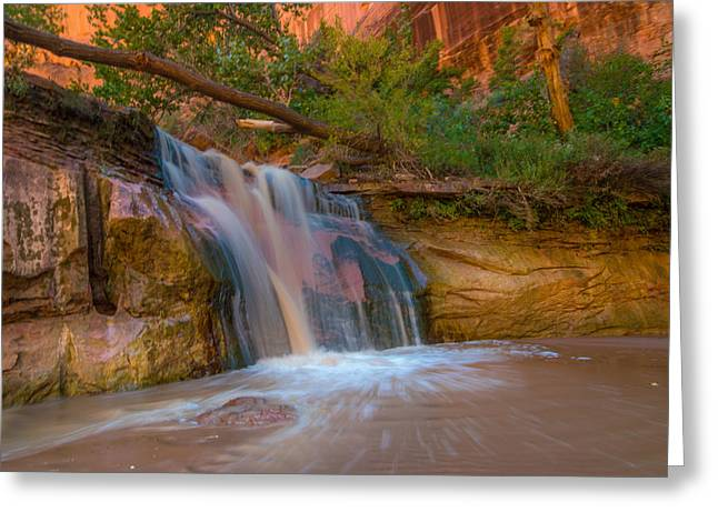 Beautiful Greeting Cards - Coyote Gulch Falls Greeting Card by Michael J Bauer