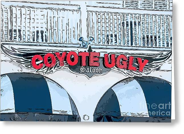 Saloons Greeting Cards - Coyote Ugly Key West - Digital Greeting Card by Ian Monk