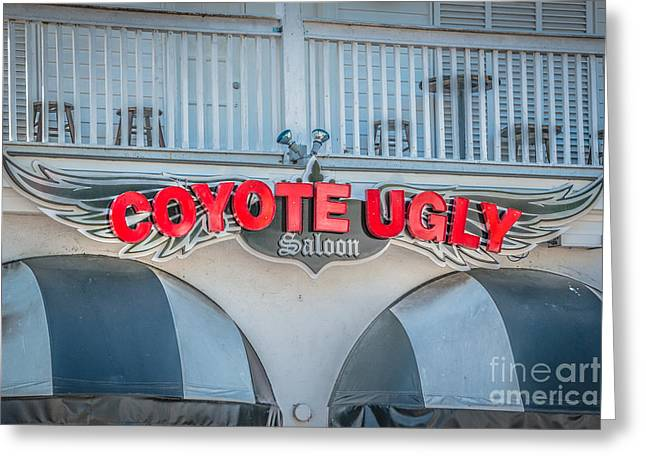 Saloons Greeting Cards - Coyote Ugly Key West - HDR Style Greeting Card by Ian Monk