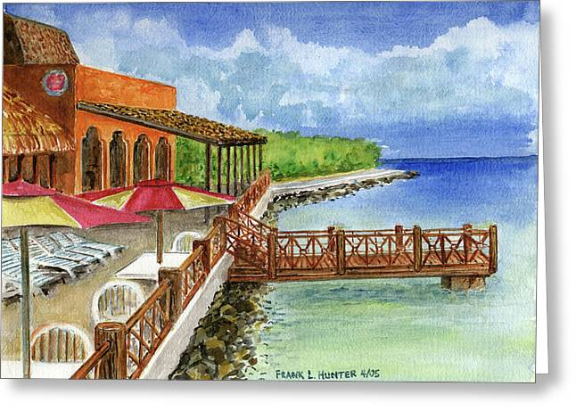 Cozumel Greeting Cards - Cozumel Mexico Little Pier Greeting Card by Frank Hunter