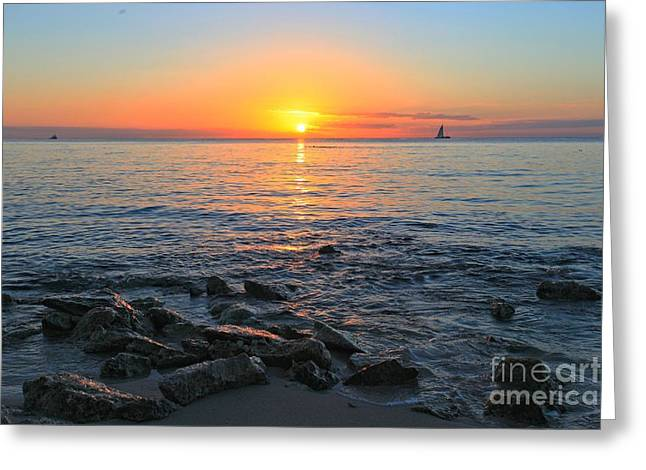 Cozumel Greeting Cards - Cozumel Sunset Greeting Card by Adam Jewell